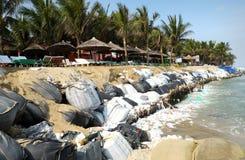 Erosie, klimaatverandering, wereldwijd, het verwarmen, Vietnam stock afbeeldingen