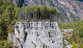 Erosie in montains van Himalayagebergte/Nepal stock fotografie