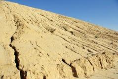 Erosie op heuvel stock fotografie