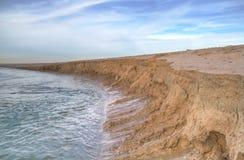 Erosie van zand Stock Foto