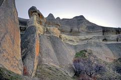 Erosion. Typical landscape in Cappadocia created by erosion of tuf Royalty Free Stock Image