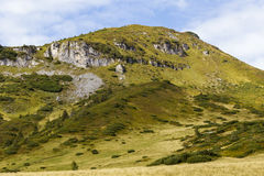 Erosion and alpine habitats Royalty Free Stock Image