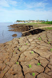 "Erosion in Amazonia. Erosion on the banks of the Amazon River in the town of Ã""bidos fund-Brazil stock images"