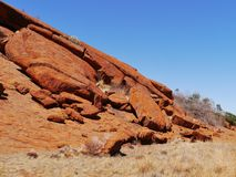 Erosion of the Australian red rocks Royalty Free Stock Photos