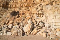 Erosion av en vagga Fotografering för Bildbyråer