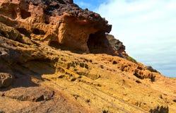 Erosion av vagga Arkivfoto
