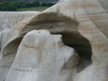 Erosion in the Canadian Bad Lands Stock Photos