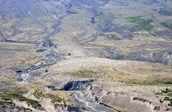 Erosion channels at Mount St Helens Stock Photo