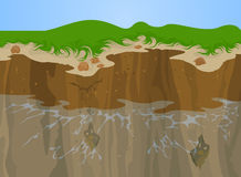 Erosion of Cliff Royalty Free Stock Photo