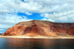 Erosion of cliffs on Lake Powell Royalty Free Stock Photography