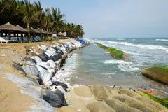 Erosion, climate change, worldwide, warming, Vietnam Royalty Free Stock Images