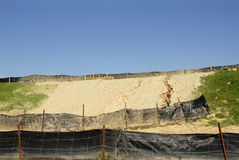Erosion Control. On a Construction Site Stock Images