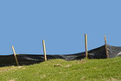Erosion Control. On a Construction Site Royalty Free Stock Images