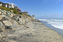 Erosion control california beaches. Stock Image