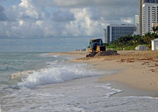 Erosion control on Miami Beach Stock Photos