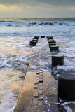Erosion Control Ocean Folly Beach South Carolina Stock Images