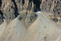 Erosion on Crowfoot Mountain Royalty Free Stock Photo