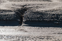 Erosion in the desert Royalty Free Stock Images