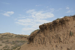 Erosion and drought Royalty Free Stock Photography