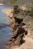 Erosion. An eroded riverbank in rural Missouri royalty free stock photography