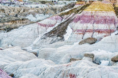Erosion formations in Paint Mine Royalty Free Stock Image