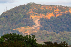 Erosion of hill indicating over development Stock Image