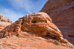 Erosion layered sandstone. Valley of Fire State Park, Nevada Stock Photo