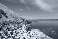Erosion protection in irelands winter Royalty Free Stock Photography