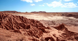 An Erosion of Red Bluffs in Petrified Forest Royalty Free Stock Images
