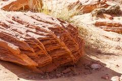 Erosion on Red Rock Boulder royalty free stock image