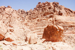 Erosion in Red Rock Hills Stock Photography
