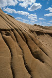 Erosion rills in badlands stock photo