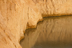 Erosion of the river that is larger on the ground. Royalty Free Stock Photos