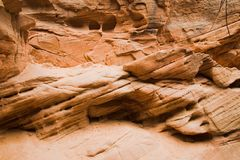 Erosion of Rock in Zion National Park Royalty Free Stock Photo