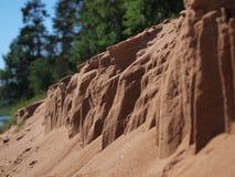 Erosion of sand closeup Stock Photography