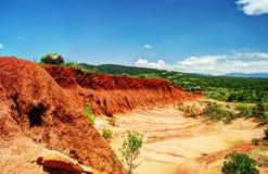 Erosion sand ravine Stock Photo