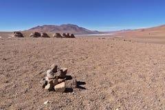 Erosion Sculpted Rocks. In the desert of Atacama, Chile Stock Images
