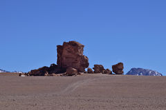 Erosion Sculpted Rocks. In the desert of Atacama, Chile Royalty Free Stock Image