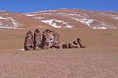 Erosion Sculpted Rocks. In the desert of Atacama, Chile Stock Photo