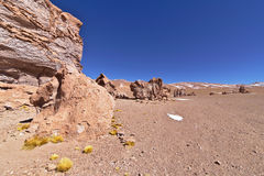 Erosion Sculpted Rocks. In the desert of Atacama, Chile Royalty Free Stock Photo