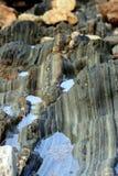 Erosion som göras av bevattnar han royaltyfri fotografi