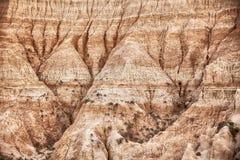Erosion In South Dakota Badlands Royalty Free Stock Image