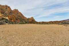 Erosion of volcanic landscape Royalty Free Stock Photo
