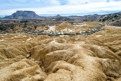 Erosion in white bardenas Royalty Free Stock Photos