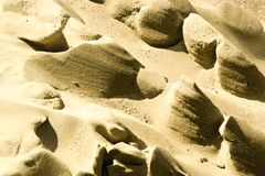 Mini dunes on beach made by the wind royalty free stock photos