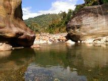Erosional landforms för flod royaltyfri fotografi