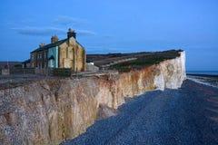 Erosione costiera Fotografia Stock