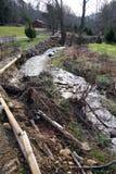 Erosione del flusso dopo la tempesta Immagini Stock Libere da Diritti