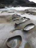 Erosione del mare a Tatlisu Cipro del nord Immagini Stock