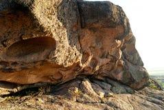 Erosione della roccia weathered Formazioni geologiche fotografia stock